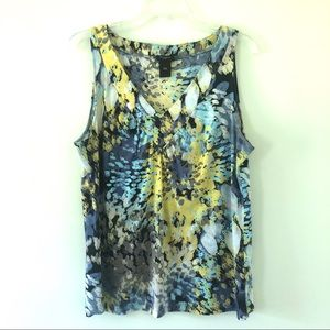 Like New Ann Taylor Floral V-Neck Blouse | L